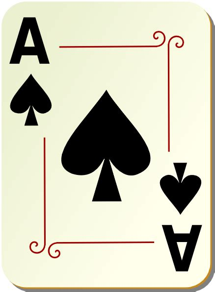 Ornamental Ace Of Spades Clip Art at Clker