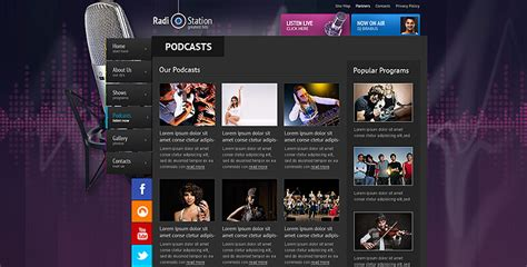 Radio template, Online Radio Station website template