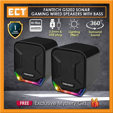 Fantech GS202 Sonar Mobile Music and Gaming Wired Speakers